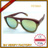 New Design Woodenl Sunglass with Mirrored Lens (FX15063)
