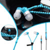 Fashion Metal Stereo Zipper Earbuds Earphone for iPhone and Samsung