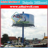 Round Outdoor Unipole Billboard Advertising