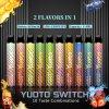 Yuoto Switch 2 in 1 Disposable Vape Pen Pod Puff Bar Dual Flavor Vape Pen Electronic Cigarette