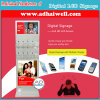 Digital LCD Signage 9 Secure Lockers Fast Free Recharger Mobile Phone Charging Kiosk