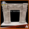 Fireplace Surround with Flowers Stone Fireplace Mantel