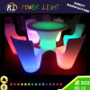 Lounge Furniture PE Material Plastic Colorful LED Dining Chair