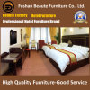 Custom Made Modern Wooden Laminate on MDF Upholstered Headboard Twin Beds Hotel Furniture for Gulf Area