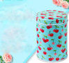Goods in Stock Cylinder-Shaped Double Lid Tea Tin Gift Box, Cookies and Food Storage Box
