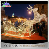 Christmas Motif Light Decoration White 3D LED Reindeer Family Light