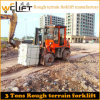 3ton Rough Terrain Forklift High Quality with Xinchai Engine