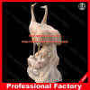 Crane Stone Sculpture Marble Statue for Garden Decoration