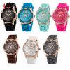 Fashion Geneva Silicone Watch Hot Casual Quartz Watch Ladies Wrist Watch#V711