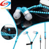 2015 Top Quality Portable Stereo Zipper Earphone for Mobilephone
