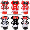 Pet Product christmas Doggie Lead Bowtie Red&Black Dog Harness