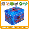 Kids Spide-Man Rectangular Metal Can Tin Coin Bank Money Tin with Lock for Saving Box for Gifts