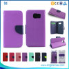 Mixed Colors Flip Leather Case for Samsung Galaxy S6 with Card Slots Stand
