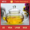 Home Office Clear Heat Resistant 350ml Glass Teapot with Infuser