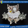 Soft Enamel Owl Shape with Custom Logometal Badges