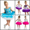 Flower Girl Dress Stage Performance Garment Baby Layered Tiered Dress Short Multi Colors Junior Party Prom Dress F131202