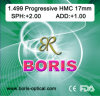 Progressive Cr39 1.499 Regular Corridor 17mm Hmc Optical Lens