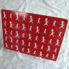 Red Place Mat on Table, with Custom Design and Size