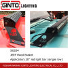 Black Jeep Hood Braket for 20′′ LED Light Bar Single Row