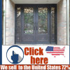 Cheap Price Metal Wrought Iron Door Gate