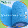 Breathable Self - Adhesive Blue Cohesive Cotton Elastic Bandage