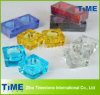Solid Colored Glass Square Tealight Candle Holders