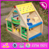 2015 New Arrival Miniature Doll House Furniture, Colorful Wooden Toy Doll House, Beartiful Wooden Pretend Doll House Toy W06A106