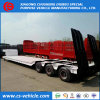 Loading Heavy Machine 60 Tons Lowbed Trailer 50 Tons Lowbed Semi Trailer