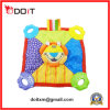 Baby Colorful Lion Cuddle Blanket Toy with Soft Teether