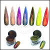Shining Unicorn Mirror Nail Chameleon Pigment Chrome Powder