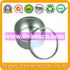Round Tin Box with PVC Transparent Lid, Metal Tin Can