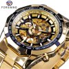 Hot Selling Men Skeleton Automatic Mechanical Watch Gold Man Watch Forsining 037 Watch Top Brand Luxury