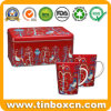 Rectangular Metal Gift Box Mug Tin for Christmas Gift Set