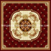 Red Color Carpet Puzzle Tile with Golden