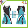 100% Polyester Sublimation Printing Netball Dress Customized Netball Jersey