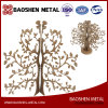 Customized Precise Laer Cutting Christmas Golden Tree Metal Office/Gift/Home Decoration Sculpture