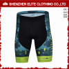 Latest Design Good Quality Sublimated Printing Cycling Pants Green (ELTCSI-23)