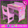 2015 New Wooden Studying Table and Chair, Wooden Writing Table and Chair Sets, Kids Table and Chair for Studying W08g162