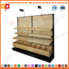 Single Side Steel and Wood Supermarket Display Stand Shelf (ZHs652)