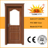 China Wholesale Veneer PVC Toilet Glass Door (SC-P192)