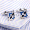 Fashion Square Silver Wedding Shirt Cufflinks for Men