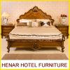 American Oak Wooden Hotel Bedroom Furniture /King Panel Bed