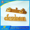 Professional Custom Metal Zinc Alloy Letter Shape Plated Gold Badge with Lower Price (XF-BG25)