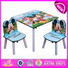 Movable Writing Table and Chair for Kids, Promotional High Quality Wooden Writing Table Chair for Children W08g151