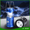 Foldable Solar Camping Light with Electric Torch Emergency Flashlight