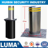 Road Safety Automatic Steel Fence Posts Stainless Steel Bollard