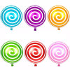 Kids Toy Candy Shape Lollipop Balloons