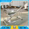 Inclined Stainless Steel Vibrating Powder Screw Conveyor with Hopper