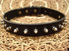 Real Leather Stud Pet Collar in Black Color, Pet Products Supply