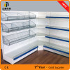 Supermarket Gondola Metal Display Stand Corner Shelf